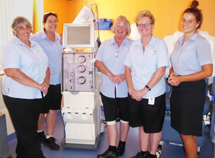 Enrolled Nurses (L-R) Wendie Hume, Mellisa Walsh, Genevieve Smith,  Nathalie de Joffrey and Abby Conry will join the pilot program next month.