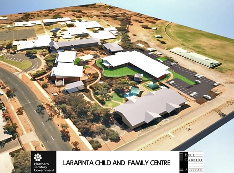 An artist's impression of the Larapinta Child and Family Centre.