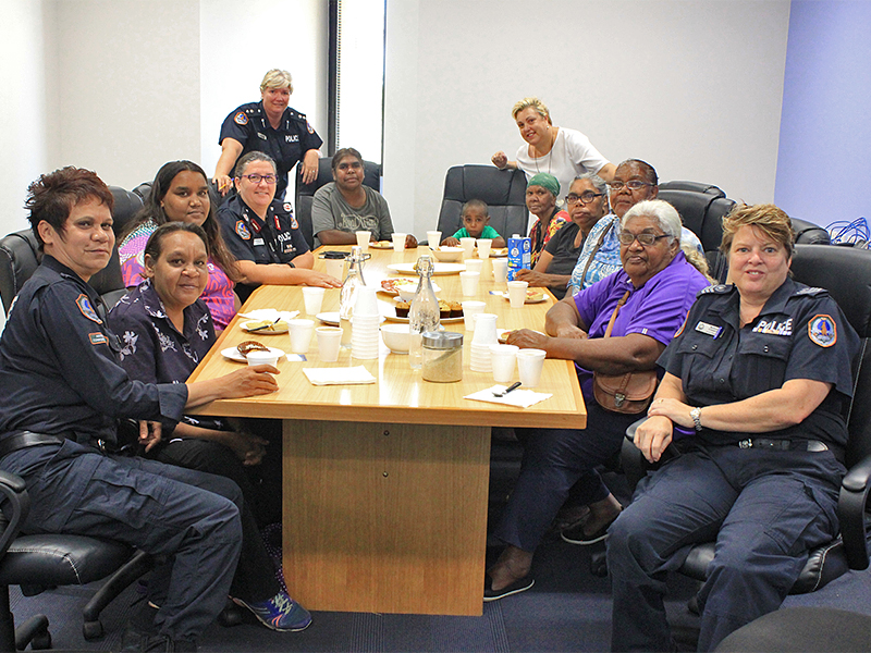 The Women's Safety group meet Assistant Commissioner Jeanette Kerr
