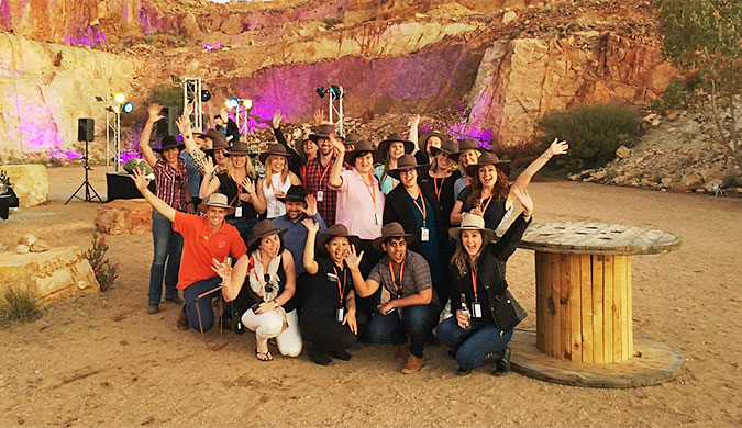 Business event planners at The Quarry in Alice Springs for the 2016 Alice Stampede
