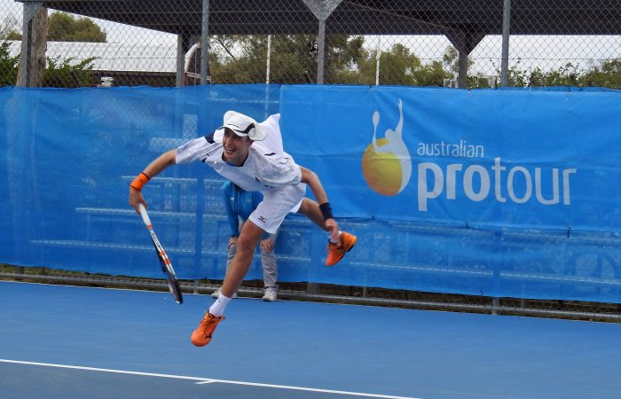 Victorian teenager Marc Polmans takes the title at last year's Alice Springs Tennis International